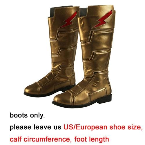 2019 Shazam Movie Custom Made Shazam Cosplay Costume Boots | Belt | Wrist Supporters - Free Shipping-DC Comics Cosplay-Boots only-One Size-Male-WickyDeez
