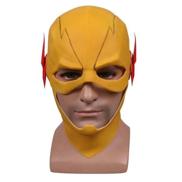 Professor Zoom Reverse Flash Tv Mask Cosplay Barry Allen Yellow Full Latex Mask-DC Comics Cosplay-WickyDeez