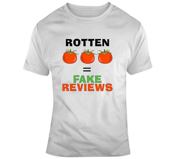 Rotten Tomatoes Fake Reviews White Tee Unisex Classic T Shirt-T-Shirt-WickyDeez
