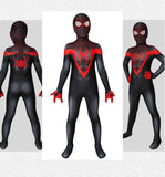 Kids PS5 Spiderman Miles Morales Jumpsuit Playstation 5 Cosplay Full Costume Set WickyDeez