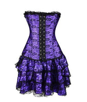 Sexy Burlesque Overbust Corset with Mini TuTu Skirt Fancy Dress Costume-Women's Apparel-WickyDeez