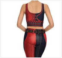 Slim Skin Tight 3D Print Harley Quinn CosPlay Comic Leggings Bottoms-DC Comics Cosplay-WickyDeez
