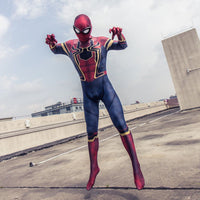 Spider-Man Infinity War Avengers 3 Kids Child Cosplay Costume Spiderman Jumpsuit-Marvel Comics Cosplay-WickyDeez