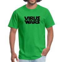 Star Wars or Virus Wars? Humour T-Shirt Top Tee - bright green