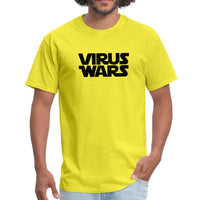 Star Wars or Virus Wars? Humour T-Shirt Top Tee - yellow