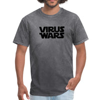Star Wars or Virus Wars? Humour T-Shirt Top Tee - mineral charcoal gray