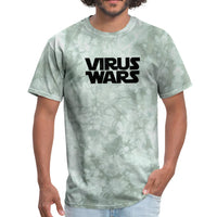 Star Wars or Virus Wars? Humour T-Shirt Top Tee - military green tie dye