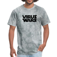Star Wars or Virus Wars? Humour T-Shirt Top Tee - grey tie dye