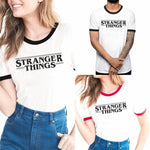Stranger Things T-shirt Women Men Short Sleeve Tee Tops White Red Black-TV Shows-WickyDeez