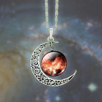 Stunning Star Moon Time Pendants for Men & Women-Women's Accessories-WickyDeez