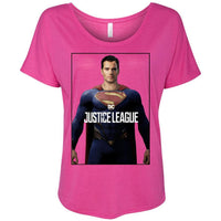 Superman Justice League Henry Cavill Bella+Canvas - Women's Slouchy Tee Shirt-DC Comics Cosplay-WickyDeez