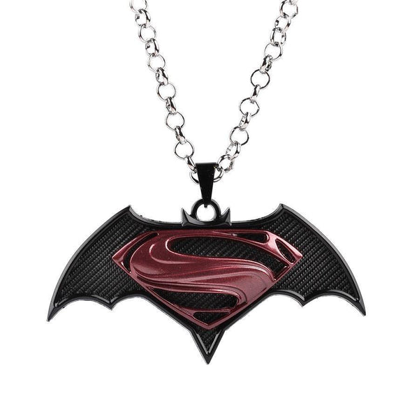 Superman vs Batman Necklace-DC Comics Cosplay-WickyDeez