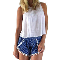 Tassel Shorts Women Summer High Waist Casual Beach 2016 Fashion Girls Short-Women's Bottoms-WickyDeez