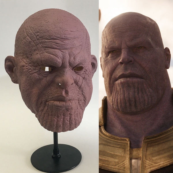 Thanos Infinity War Pink Face Mask Version & Infinity War Gauntlet Cosplay Props-Marvel Comics Cosplay-WickyDeez