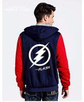 The Flash Hoodie Anime Justice League Hooded Thick Zipper Men Sweatshirt-DC Comics Cosplay-WickyDeez