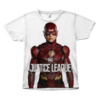 The Flash Justice League Ezra Miler Canvas Size - Unisex Tee Shirt-DC Comics Cosplay-WickyDeez