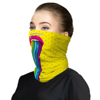 Rainbow Mouth Snood Face Mask Balaclava Scarf Cover | 2x - 50x Disposable Five Layer Filter Pads Available - WickyDeez