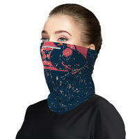 Red Panda Boxing Snood Face Mask Balaclava Scarf Cover | 2x - 50x Disposable Five Layer Filter Pads Available