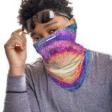Galaxy Star Multi-Color Snood Face Mask Balaclava Scarf Cover | 2x - 50x Disposable Five Layer Filter Pads Available - WickyDeez