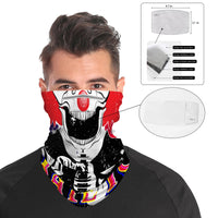 Red Nose Clown Snood Face Mask Balaclava Scarf Cover | 2x - 50x Disposable Five Layer Filter Pads Available - WickyDeez