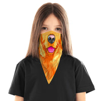 Children's Dog Bandana Face Mask Scarf Cover | 2x - 50x Disposable Five Layer Filter Pads Available - WickyDeez