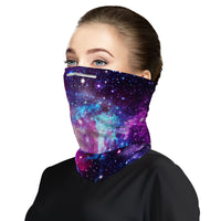 Galaxy Face Mask Balaclava Scarf Cover | 2x - 50x Disposable Five Layer Filter Pads Available - WickyDeez