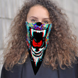 Roaring Bear Bandana Face Mask Scarf Cover | 2x - 50x Disposable Five Layer Filter Pads Available - WickyDeez
