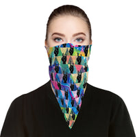 RockOn Bandana Face Mask Scarf Cover | 2x - 50x Disposable Five Layer Filter Pads Available - WickyDeez