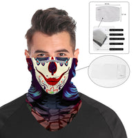 Gothic Spade Snood Face Mask Balaclava Scarf Cover | 2x - 50x Disposable Five Layer Filter Pads Available - WickyDeez