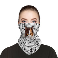 Pussy Cat Breathable Snood Face Mask Balaclava Scarf Cover | 2x - 50x Disposable Five Layer Filter Pads Available - WickyDeez