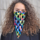 RockOn Bandana Face Mask Scarf Cover | 2x - 50x Disposable Five Layer Filter Pads Available