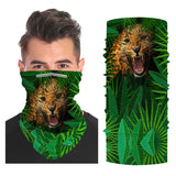 Leopard Snood Face Mask Balaclava Scarf Cover | 2x - 50x Disposable Five Layer Filter Pads Available - WickyDeez