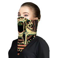 Alien Bandana Face Mask Scarf Cover | 2x - 50x Disposable Five Layer Filter Pads Available - WickyDeez