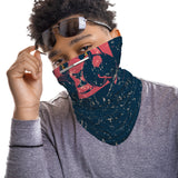 Red Panda Boxing Snood Face Mask Balaclava Scarf Cover | 2x - 50x Disposable Five Layer Filter Pads Available - WickyDeez