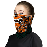Smoking Skull Snood Face Mask Balaclava Scarf Cover | 2x - 50x Disposable Five Layer Filter Pads Available - WickyDeez