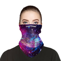 Galaxy Face Mask Balaclava Scarf Cover | 2x - 50x Disposable Five Layer Filter Pads Available