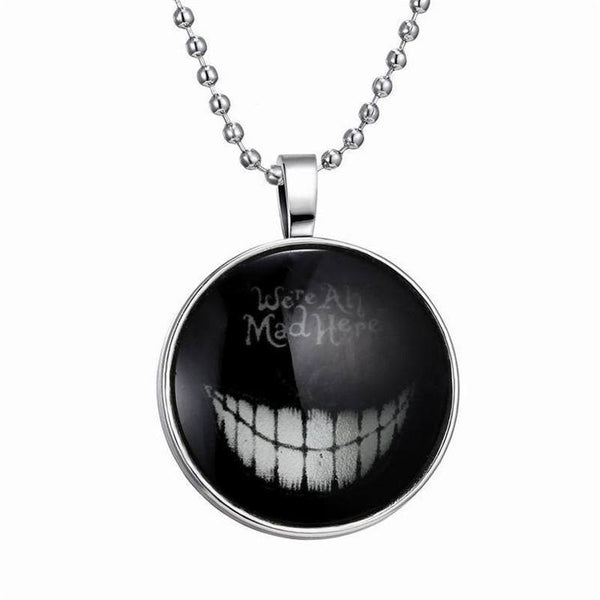 Unisex Punk Halloween Creative Expression Glow Glass Necklace Pendant-Women's Accessories-WickyDeez