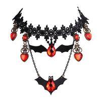 Vintage Bat Shape Necklace-Women's Accessories-WickyDeez