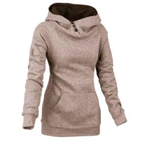 Warm Women's Outerwear Sweatshirt Hoodie High Quality Solid Hoody Fashion Sportswear 5 Colors-Women's Tops-WickyDeez