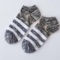 Winter Warm Men's Cotton Low Cut Crew Ankle Cotton Socks (In 5 Different Colors)-Women's Accessories-WickyDeez