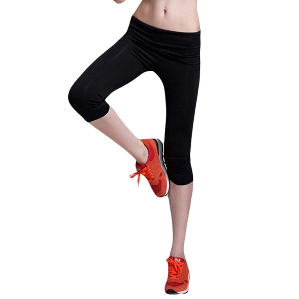 Women's Calf-Length Casual Fitness Jogger Skinny Elasticity Leggings Pants (4 Colors)-Women's Bottoms-WickyDeez