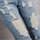 Women's Casual Loose Denim Hole Ripped Overalls Jeans Jumpsuit Long Trousers/Pants Style-Women's Tops-WickyDeez