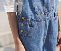 Women's Denim Straps Shorts Campus Braces Jeans Overalls Trousers Jumpsuit - 2 Colors-Women's Tops-WickyDeez