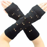 Women's Fashion Knitted Arm Wrist Fingerless Winter Gloves - Soft Warm Mittens (Up to 7 Colors)-Women's Accessories-WickyDeez