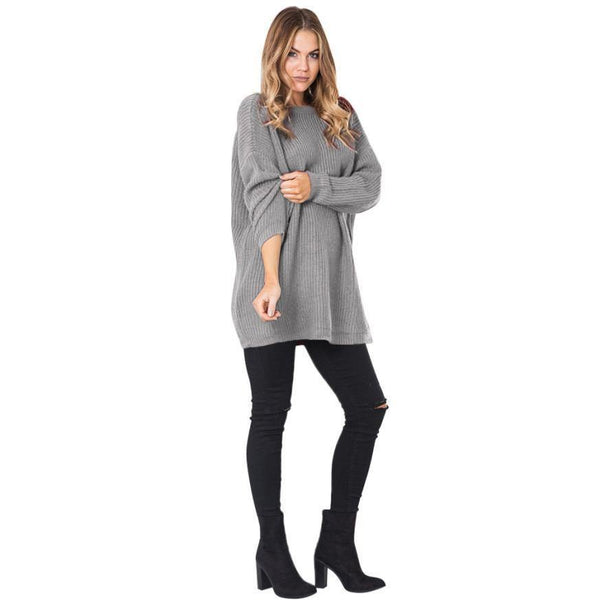 Women's Long Sleeve Casual Sweater Jumper Sexy Backless Dress Coat Design-Women's Tops-WickyDeez