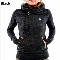 Women's Long Sleeve Hooded Pocket Design Warm Sweatshirt Hoodie - Available in 6 Colors-Women's Tops-WickyDeez