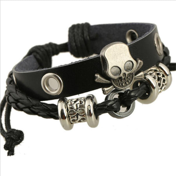 Women's / Men's Punk Style Skull Bracelet-Women's Accessories-WickyDeez