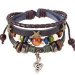 Women's Punk Style Charm Leather Bracelet-Women's Accessories-WickyDeez