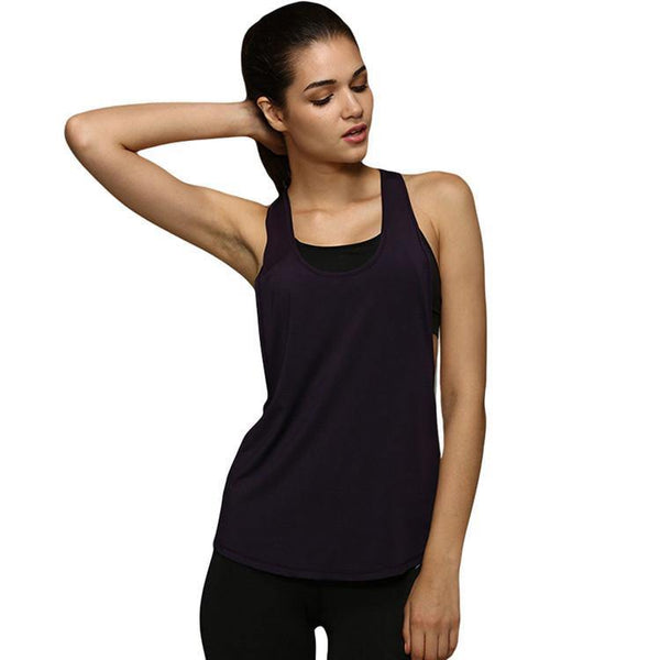 Women's Sexy Fitness Sleeveless Tank Top Vest Quick Drying - 5 Colors-Women's Tops-WickyDeez