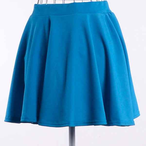 Women's Solid Casual Mini Empire Skirt - Available in 8 Colors-Women's Skirts-WickyDeez